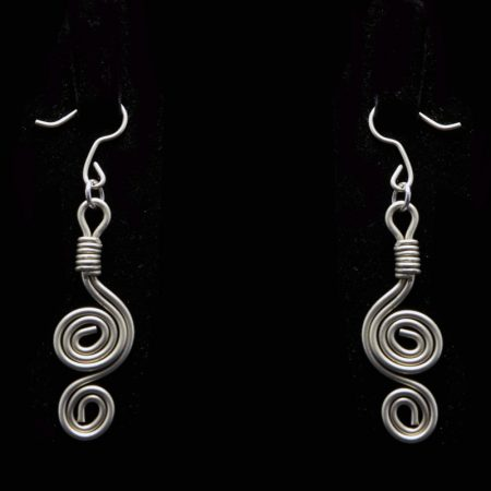 Handmade earrings with alpaca and ancient Greek design