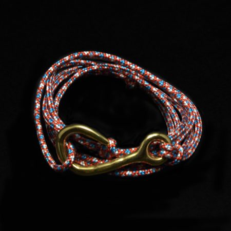 Handmade bracelet with a large hook and climbing rope