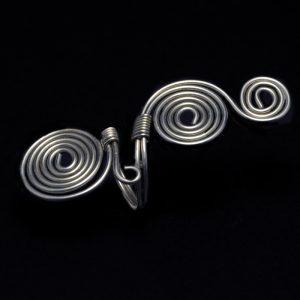 Χειροποίητο δαχτυλίδι με αλπακά και αρχαιοελληνικό σχέδιο