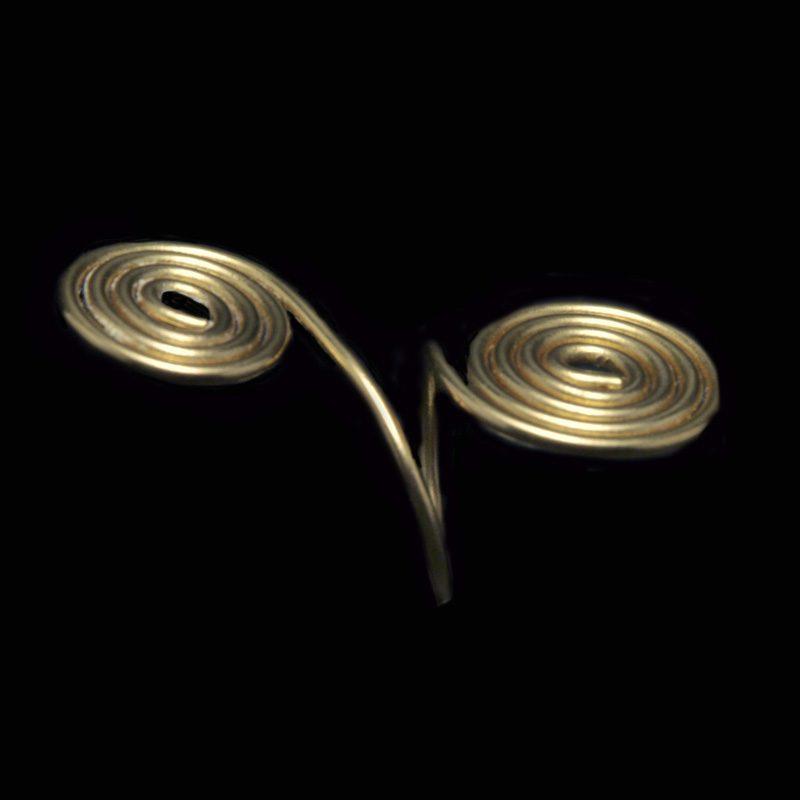 Χειροποίητο δαχτυλίδι με ορείχαλκο και αρχαιοελληνικό σχέδιο