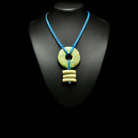 Handmade necklace with ceramic elements