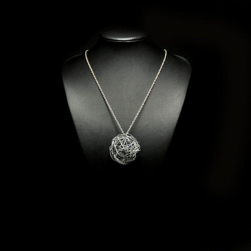 Handmade necklace with alpaca