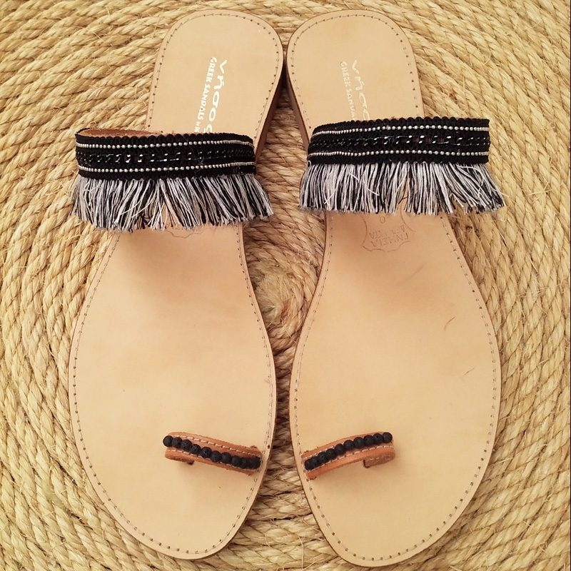 c59e84c2fc Handmade Greek leather ethnic sandals-Nisos by D T!