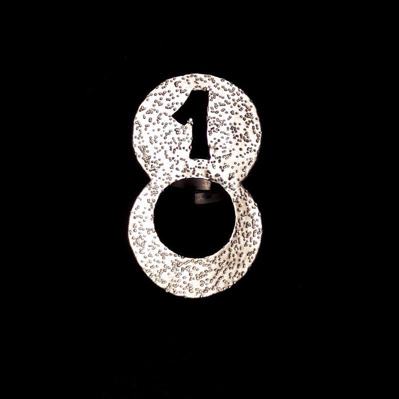 Χειροποίητο δαχτυλίδι γούρι για το 2018, με σφυρήλατο αλπακά