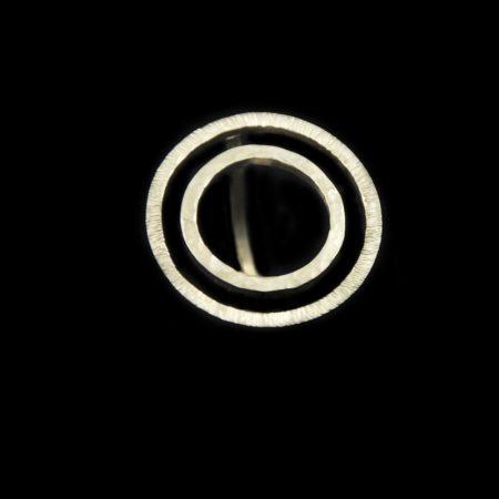 Χειροποίητο δαχτυλίδι δύο κύκλοι με αλπακά