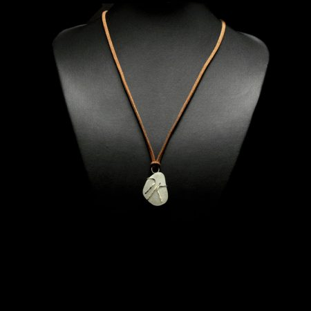 Handmade necklace with stone from Skiathos