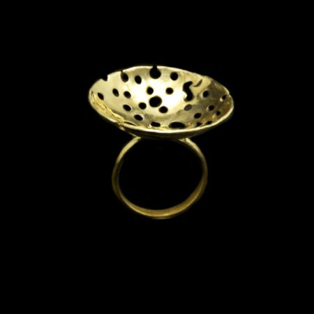 Handmade ring with brass