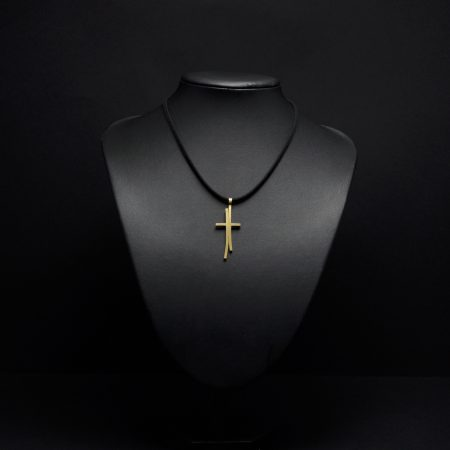 Handmade cross with brass