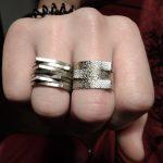 Χειροποίητα δαχτυλίδια με σφυρήλατο αλπακά
