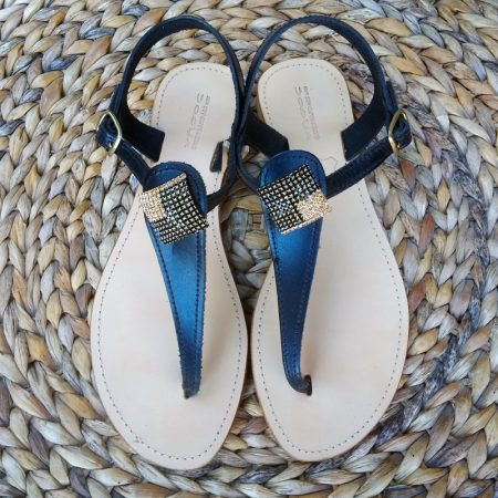 "Handmade leather sandals with  squares ""motifs""!"