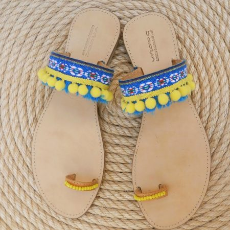 Handmade leather ethnic sandals